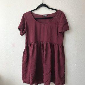 Brandy Melville maroon babydoll dress